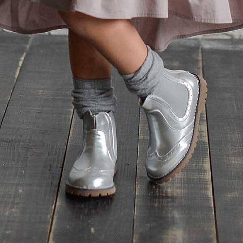 Купить Модель №5322 Ботинки TM Evie Mini Martens Silver - фото 5