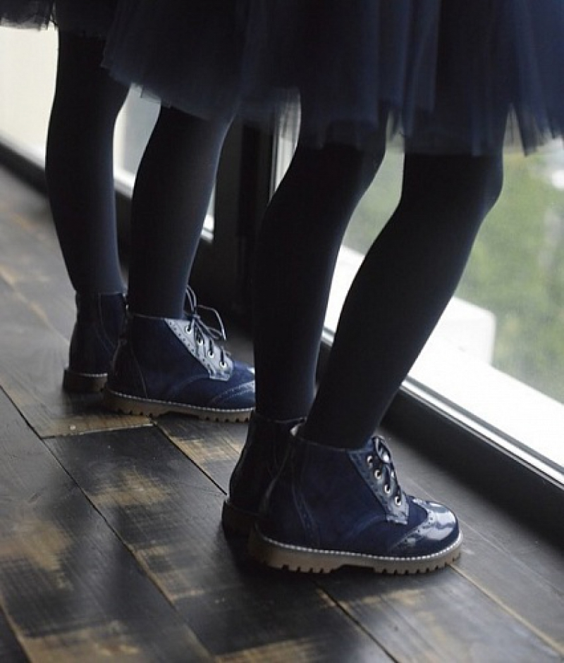 Купить Модель №5323 Ботинки TM Evie Mini Martens Navy - фото 5
